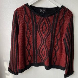 Top Shop Black & Red Sweater Size 6